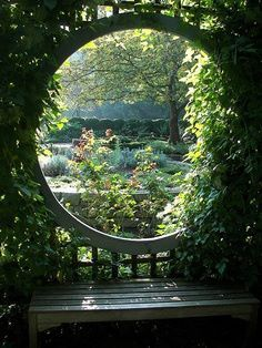 Garden portal. There is something so special about round windows.