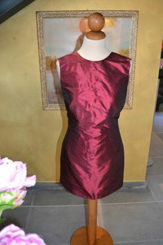 Metalic Bordeau Dress
