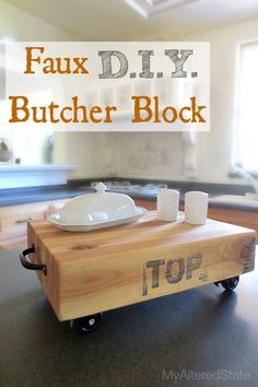 DIY Faux Butcher Block
