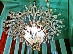 Plastic hanger chandelier. Chartreuse in Fairbanks
