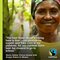 Grace is one of million workers and farmers benefit from Fairtrade.