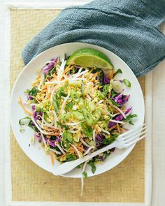 Pad Thai Salad. Made with chard and cabbage.  Superfoods, for a Super You!