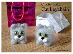 Cat keychain crochet pattern Cat keyring Crochet kitten Cat