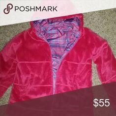 Pink Marmot Jacket Pink REVERSIBLE marmot marshmallow jacket, sized 14/16 kids but fits like adult xsmall Marmot Jackets & Coats