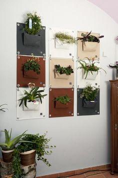 """Green Pockets"" - Vertikales Pflanztaschen-System"