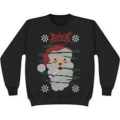 Attila Men's Santa Fade Sweatshirt Black - http://bandshirts.org/product/attila-mens-santa-fade-sweatshirt-black/