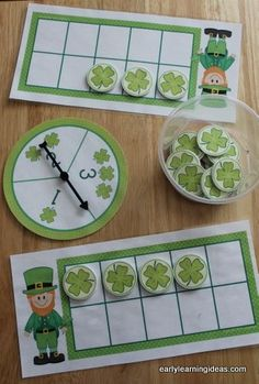 St. Patrick's Day Fill the Frame - Math activities for preschool, pre-k and kindergarten.