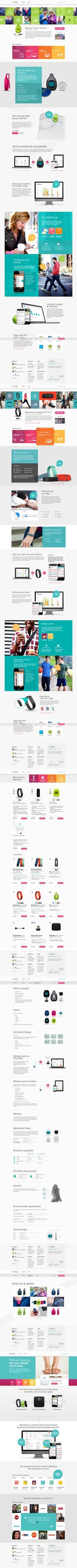 Fitbit #flat #design #interface