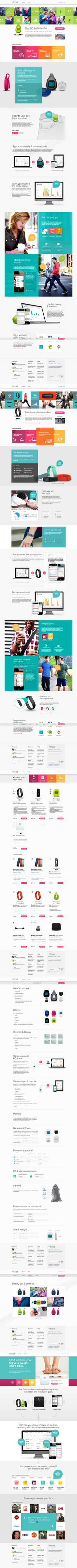 Fitbit #flat #design #interface