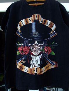 59946f28f Guns N Roses Slash Skull Appetite for Destruction Black T Shirt New  Official GNR | eBay