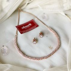 Minimalistic Rose Gold Necklace By Adorna Chennai! Indian Designer Wear, Jewelry Patterns, Necklace Designs, Diamond Jewelry, Jewelry Collection, Chokers, Gold Necklace, Minimalist, Rose Gold