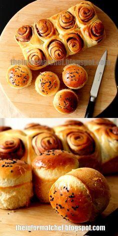 Japanese Bakery, Japanese Pastries, Japanese Milk Bread, Bakery Recipes, Tart Recipes, Bread Recipes, Sweet Recipes, Milk Bread Recipe, Best Bread Recipe
