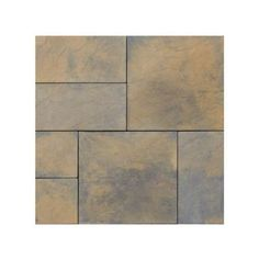 Nantucket Pavers Patio-on-a-Pallet 10 ft. x 10 ft. Concrete Tan Variegated Basketweave Yorkstone Paver-31034 - The Home Depot