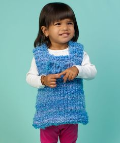 Tunic for Baby Free Knitting Pattern from Red Heart Yarns
