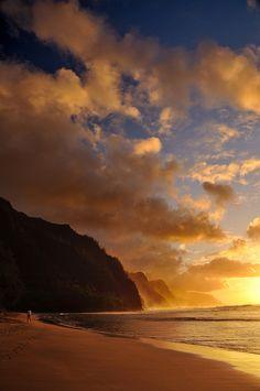 Napali coast sunset ~ Hawaii