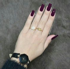 We have collected the most popular 2019 nail design for you ladies. These nail models will suit you very well. We recommend that you apply one of the latest nail designs. Gorgeous Nails, Pretty Nails, Nail Paint Shades, Latest Nail Designs, Wine Nails, Nails 2017, Gelish Nails, Luxury Nails, Classy Nails