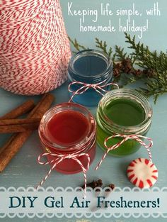 Easy DIY GEL AIR FRESHENERS with essential oils. (Great homemade gift idea)! | Farm Girl Inspirations