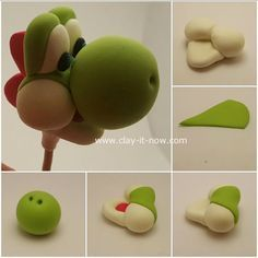 Yoshi clay - character from mario bros games - free tutorial - part 2
