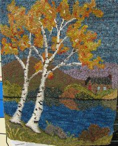 Hand hooked rug from Lenexa Hook-in