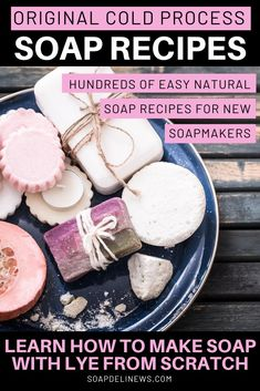 Cold process soap recipes for beginners. Hundreds of homemade soap recipes with lye that beginning soap makers can learn how to craft at home. Learn how to make soap with lye with this collection of the best cold process soap recipes and cold process soap techniques. Fun soap crafting projects to introduce you to the world of soap making through fun cold process soap designs and soap craft techniques for making soap from scratch using the cold process soap making method. DIY CP soap recipes.