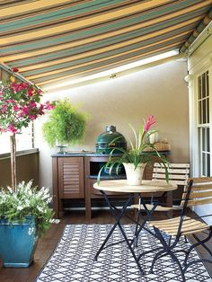 Merveilleux Awning For My Back Patio Back Patio, Back Porches, Front Porch, Screened In