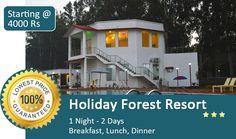 Book Corbett Holiday Resort in Just @4000 including breakfast+Lunch+ dinner for 2 Adult.