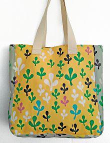 Tote bag en tejido reciclado Estampado exclusivo by Cris B Edición limitada Handmade