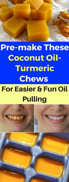 These Coconut Oil-Turmeric Chews For Easier And Fun Oil Pulling. Here's How – Today Health PeoplePre-make These Coconut Oil-Turmeric Chews For Easier And Fun Oil Pulling. Here's How – Today Health People Coconut Oil For Teeth, Coconut Oil Pulling, Coconut Oil Uses, Benefits Of Coconut Oil, Organic Coconut Oil, Tumeric And Coconut Oil, Diy Turmeric Face Mask, Tumeric Face, Oil Pulling Benefits