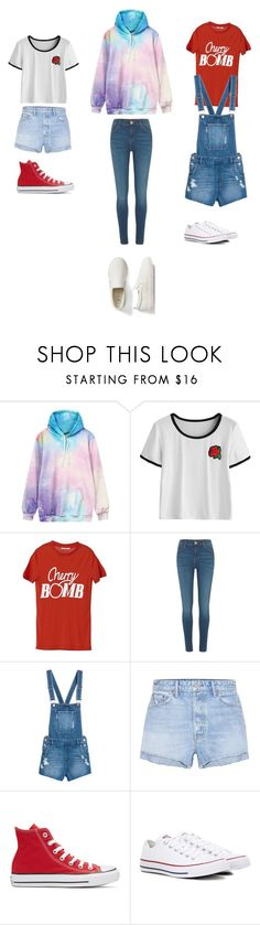 """UnTiTLeD #42"" by katie-lovebug on Polyvore featuring Ganni, River Island, GRLFRND, Converse and Gap"
