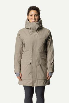 W's Fall in Parka | Houdini Sportswear Long Cut, Wash Bags, Stay Warm, Sportswear, Raincoat, Fall, Jackets, Weather