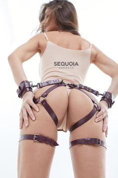 Harness Women Fashion Bondage Garter Harness Garter Belt   Etsy Pink Handcuffs, Leather Handcuffs, Leg Harness, Leather Harness, Marsala, Bodies, Submissive, Black Garter, Glamour Beauty