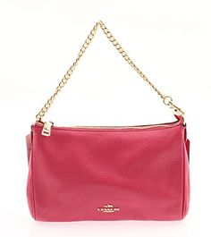 Coach Pebble Leather Carrie Crossbody - Dahlia -- You can find out more details at the link of the image.