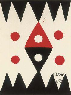 Alexander Calder  Dents de cie  gouache on paper  1969