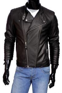 Ramoneska Skórzana Męska DORJAN CM LEO950 Leather Jacket, How To Wear, Jackets, Clothes, Trends, Fashion, Fotografia, Studded Leather Jacket, Down Jackets