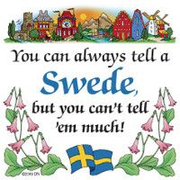 Swedish Souvenirs Magnet Tile (Tell Swede)