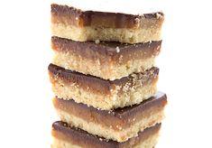 Close up of sugar-free, gluten-free Tagalong Bars