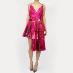 Spin and flirt, spin and flirt!  Valentine's Day is round the corner - Shop red and pink tones on HULA. dress by Thakoon / shoes by Gianvito Rossi