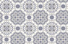 Folksy++(LF1022)+-+Layla+Faye+Wallpapers+-+An+all+over+wallpaper+design+featuring+an+elegant+geometric+motif,+which+creates+a+tile+effect+when+hung.+Shown+here+in+the+midnight+sky+colourway.+Other+colourways+are+available.+Please+request+a+sample+for+a+true+colour+match.+Paste-the-wall+product.+Pattern+repeat+is+53cm,+not+as+stated+below.