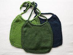 Ravelry: I-Love-Stockinette Baby Bib pattern by Laura Treadway Baby Bibs Patterns, Easy Knitting Patterns, Kids Patterns, Knitting For Kids, Baby Knitting, Knitting Projects, Crochet Patterns, Knit Or Crochet, Crochet For Kids