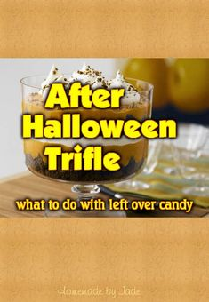 If you're like many households, you are drowning in candy after Halloween. Well, I have a great idea for what you can do with all that chocolate candy! Brownie Trifle, Kitchen Witch, Grow Your Own Food, Helping People, Great Recipes, Jade, Dessert Recipes, About Me Blog, Homemade