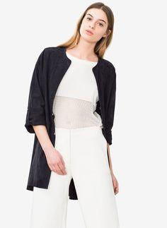 Blue overshirt - Outerwear - Ready to wear - Uterqüe Spain