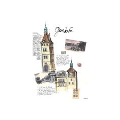 Illustrations ❤ liked on Polyvore featuring backgrounds, fillers, drawings, illustrations and buildings