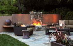 Fireplace - contemporary - patio - san francisco - by Arterra LLP Landscape Architects