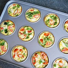 These healthy egg muffins are the perfect way to start your day. They're loaded with veggies, high in protein and easy to make. Oh, and they're tasty too!