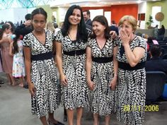 """Beware of pre-convention sales... Pinner said: """"The granny on the right is just so tickled that they all match. The tall woman in the middle looks vaguely uncomfortable, but she's pulling a brave face for the camera. The girl on the left IS STARING RIGHT INTO YOUR SOUL. SHE IS NOT AMUSED."""""""