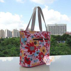 sac en toile, imprimés floraux