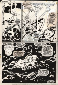 Silver Surfer #7 END PAGE by John Buscema and Sal Buscema.