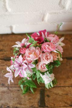 Gorgeous pink wedding bouquet by Blush Botanicals at Rancho Valencia in Rancho Santa Fe.