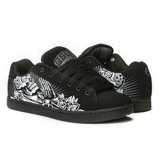 64de7aebc9  OSIRISSHOES TROMA REDUX MAXX242 DEADMAN BLACK WHITE TRAINERS Osiris Shoes