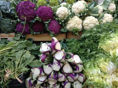 Purple and green were the predominant colours in Sicily's markets in December